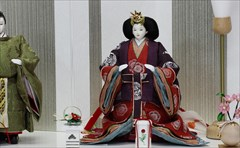秋田人形 小倉草園 三五 立雛 麹塵