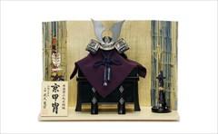 平安武久 8号 兜飾り「赤中白 龍台 短鍬」