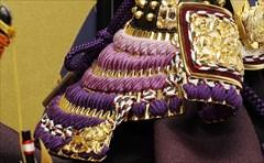 平安武久8号 兜飾り 紫裾濃 「雲龍宝づくし」
