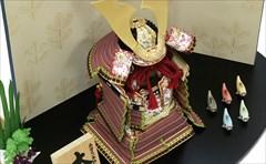 鈴甲子雄山 五分之一 本仕立 大鎧 金小札 梅紫