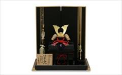 鈴甲子雄山 10号 竹雀の兜 「浮唐草竹雀」