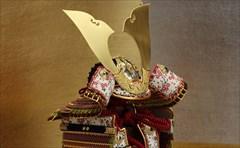 1/5 鎧飾り「 金銀市松に梅紫 」<