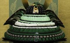 辰広 四分之一 兜飾 緑段威 本小札